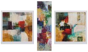 Bailey (American, Contemporary) Four Abstract Prints.