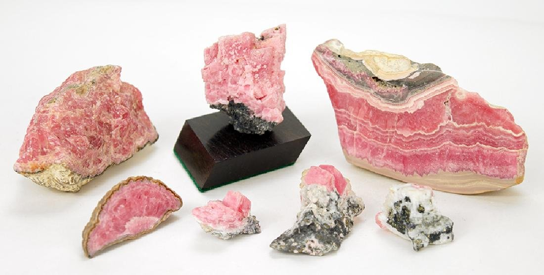 A Collection of Rhodochrosite.