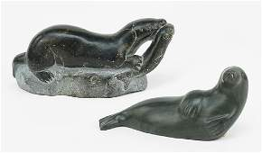 Two Inuit Carvings.