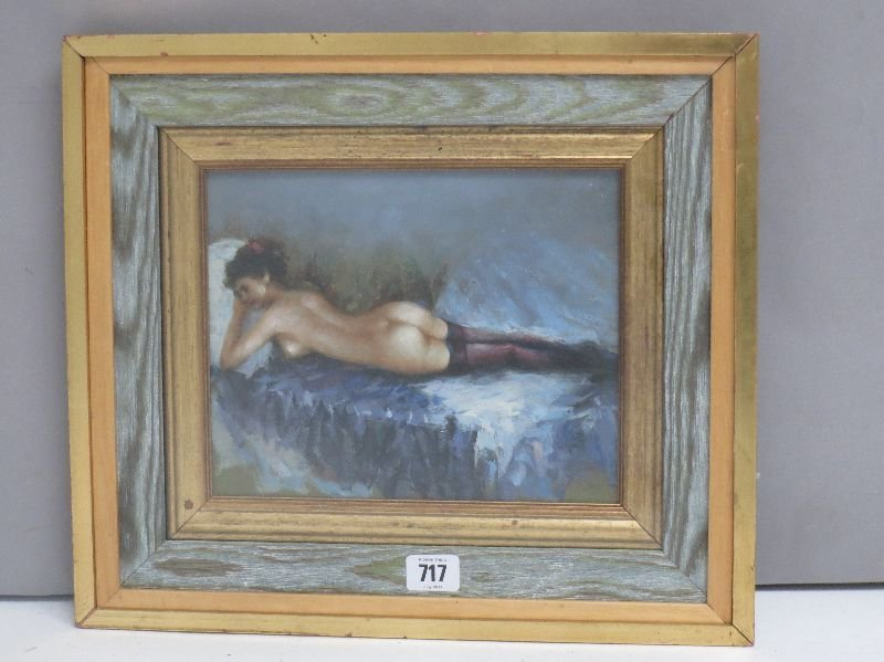 oil on board studio framed oil painting study of a