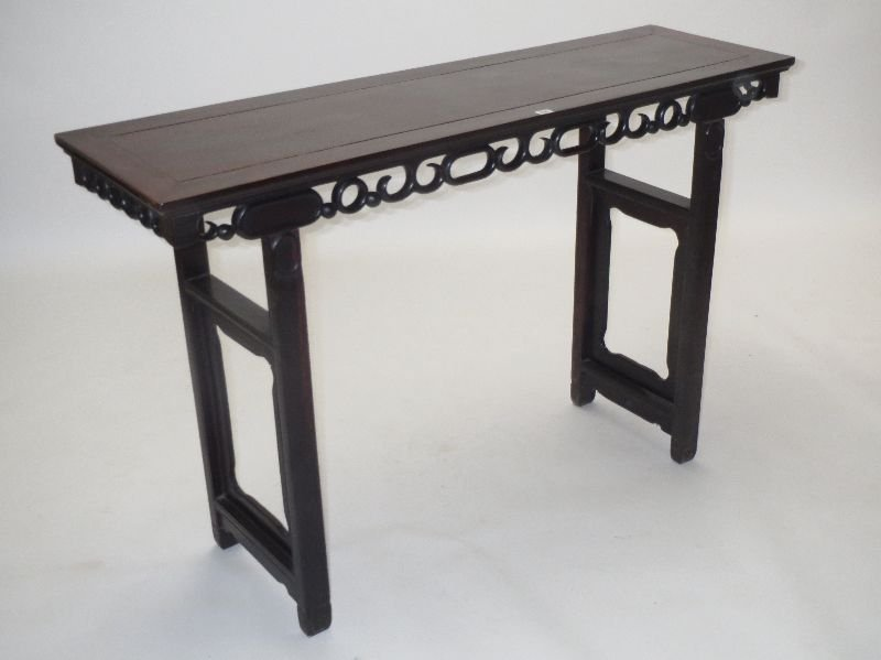 C19th Chinese hardwood altar table 98 x 155