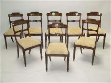 Good set of eight Regency rosewood dining chairs with
