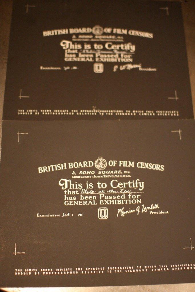 Disney Pluto BBFC Certificate