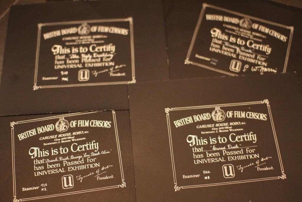 Disney Donald Duck BBFC Certificates 2
