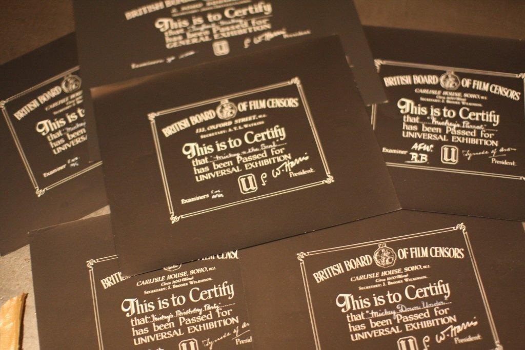 Disney Mickey Mouse BBFC Certificates