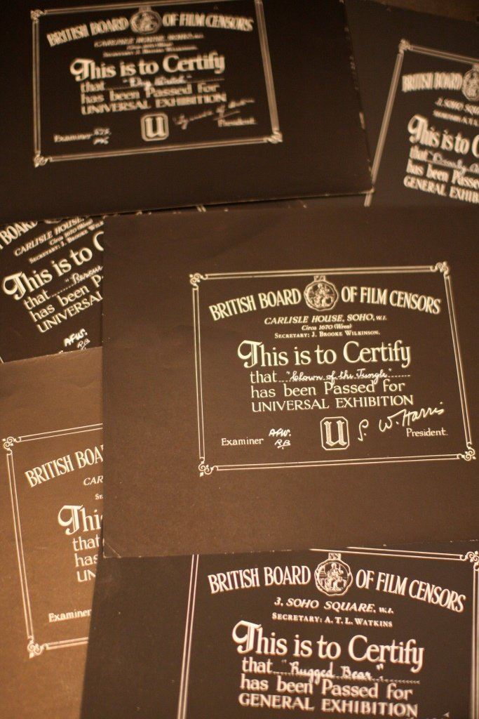 Disney Animal Related BBFC Certificates