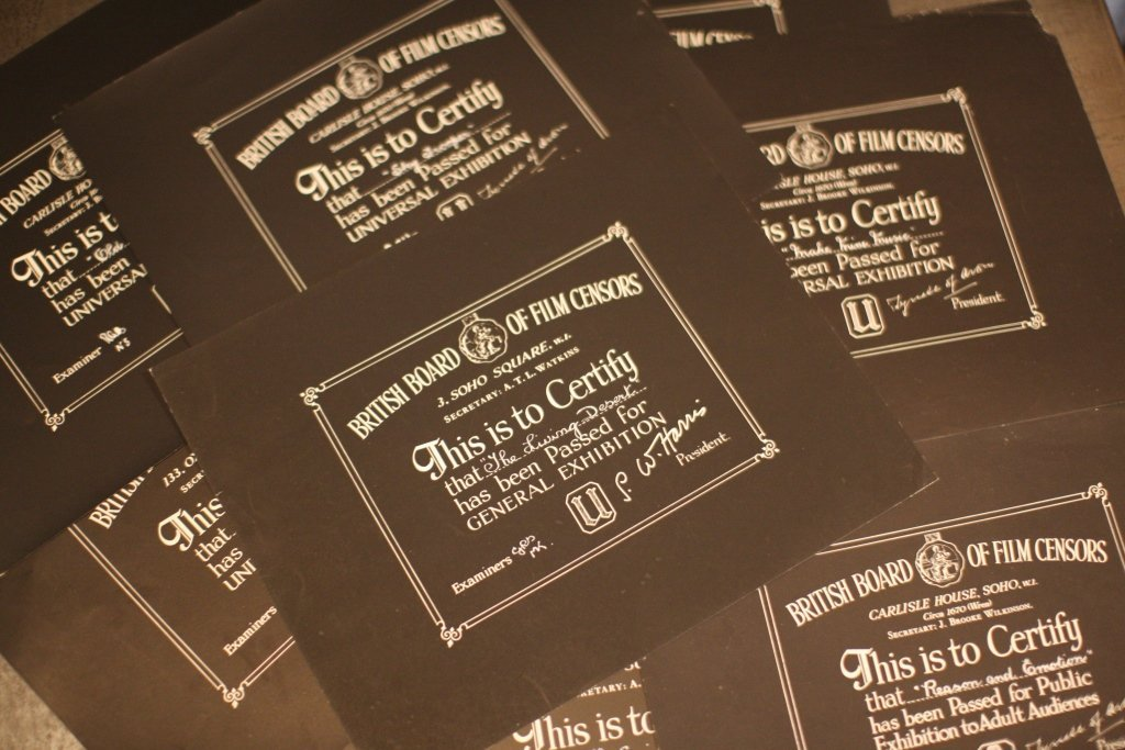 Disney Location/Miscellaneous BBFC Certificates