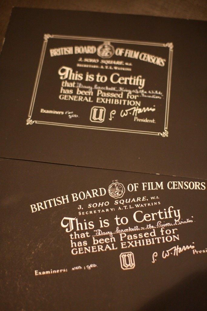 Disney, Davy Crocket BBFC Certificates