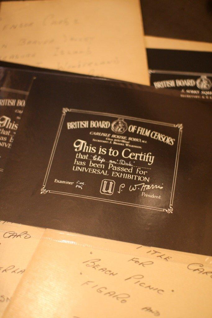 Disney Curious/Related BBFC Certificates