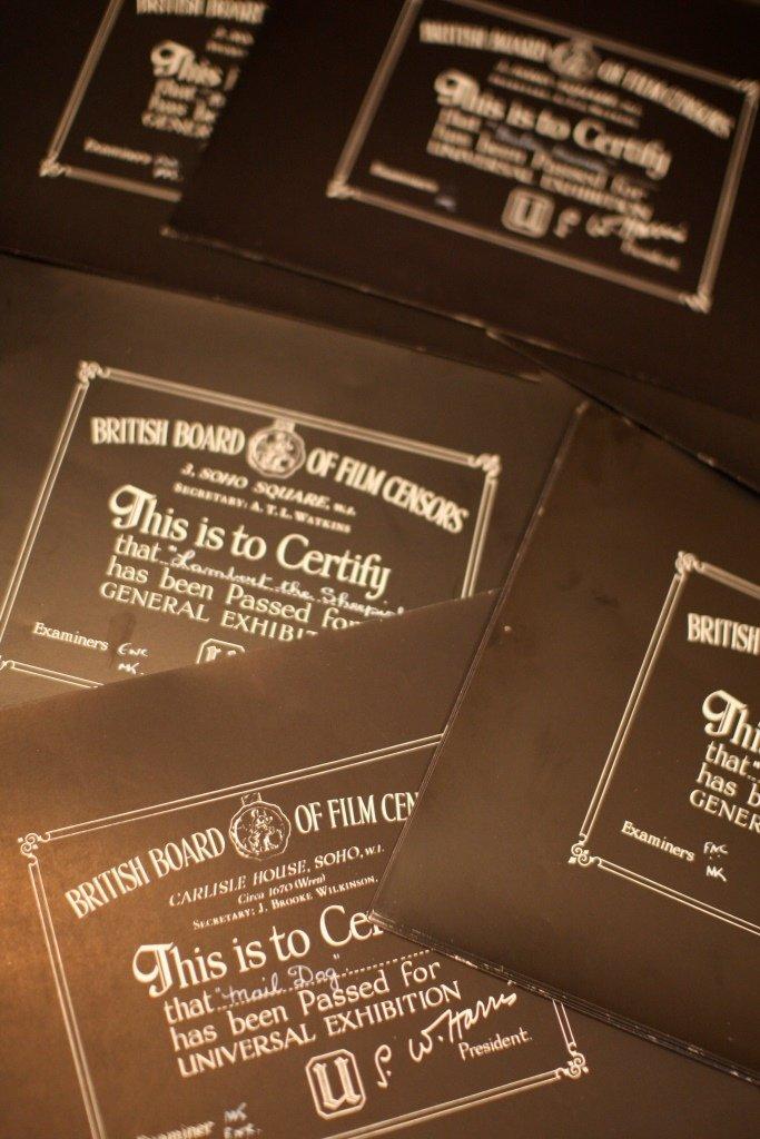 Disney Miscellaneous & Obscure 3 BBFC Certificates