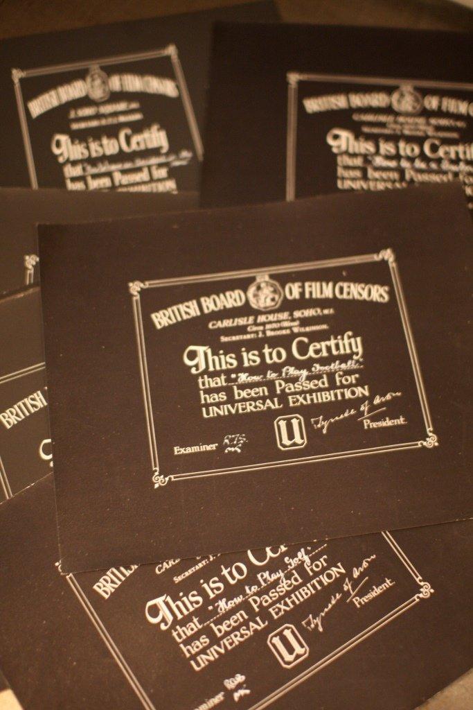 Disney 'How To' BBFC Certificates