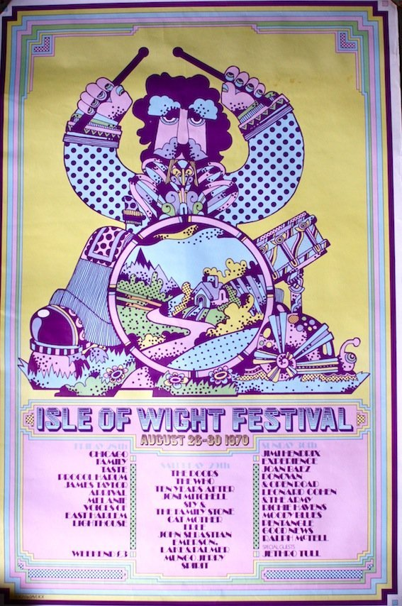 Isle of Wight Festival poster 1970