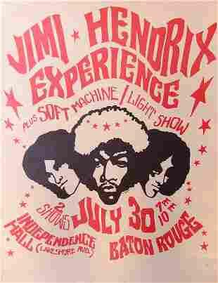 Jimi Hendrix Baton Rouge Signed Artist Proof