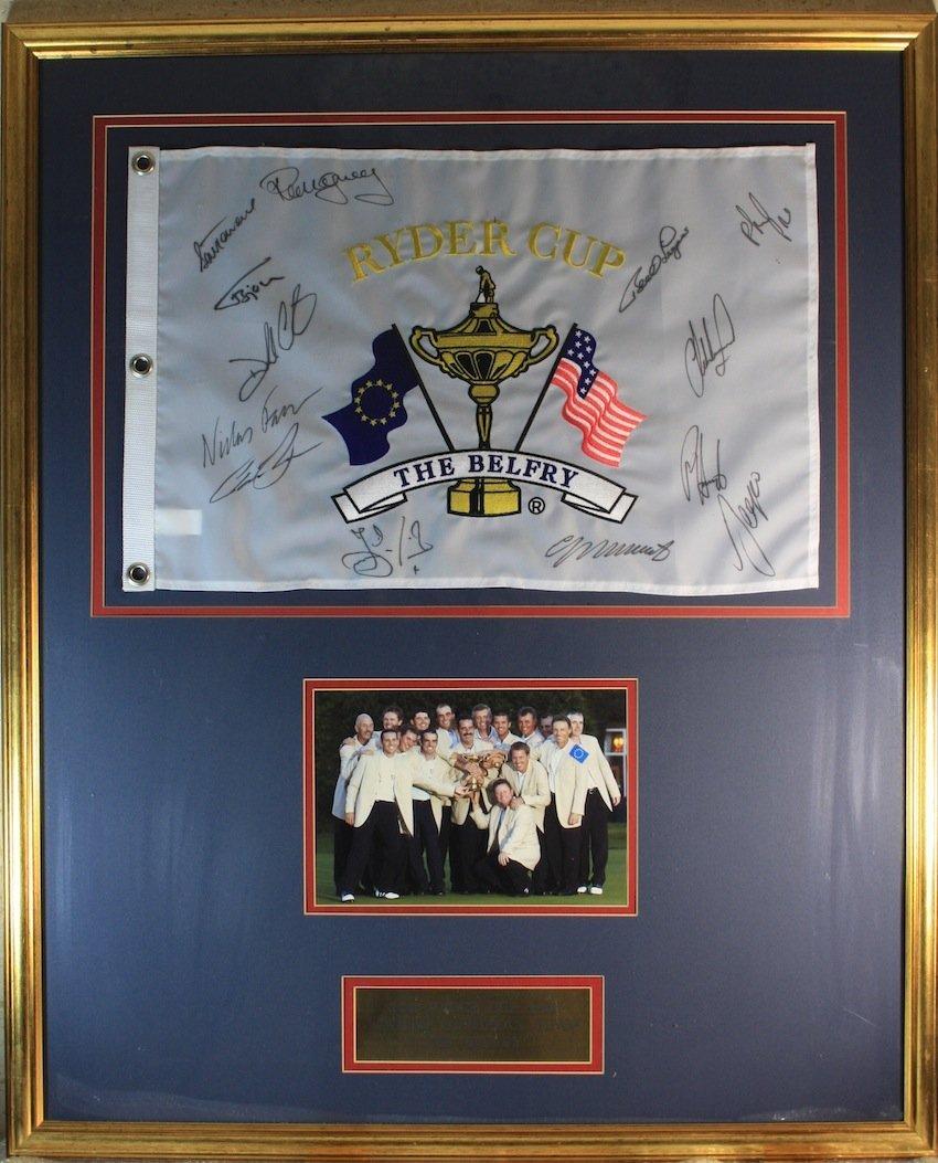 Ryder Cup 2002 Belfry Signed Flag