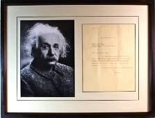 Albert Einstein Signed Letter (1879-1955).