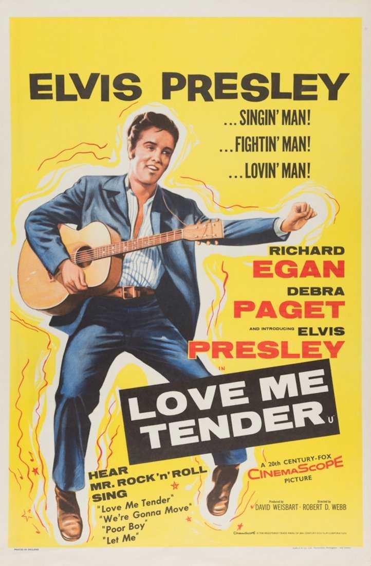 Elvis Presley Original Love me tender movie poster 1956