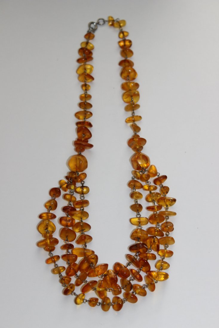 3-Strand Honey Baltic Amber Necklace