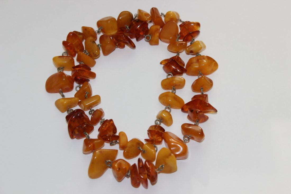 Long Butterscotch Baltic Amber Necklace
