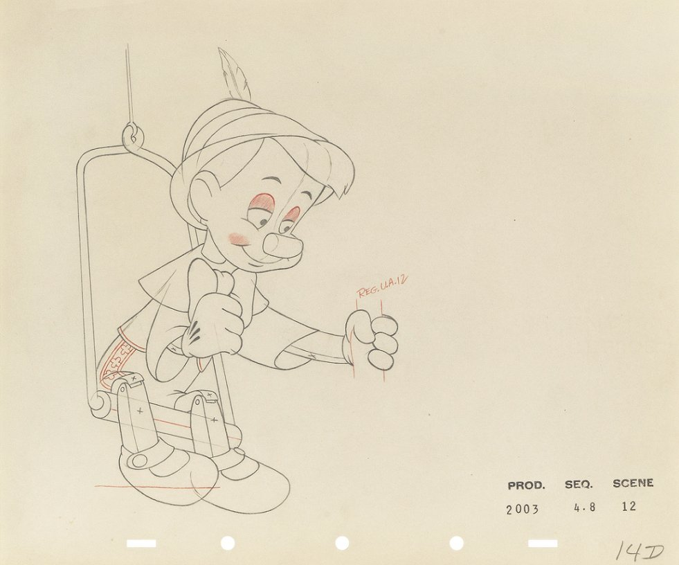 "Studio Disney - ""Pinocchio"", 1940"