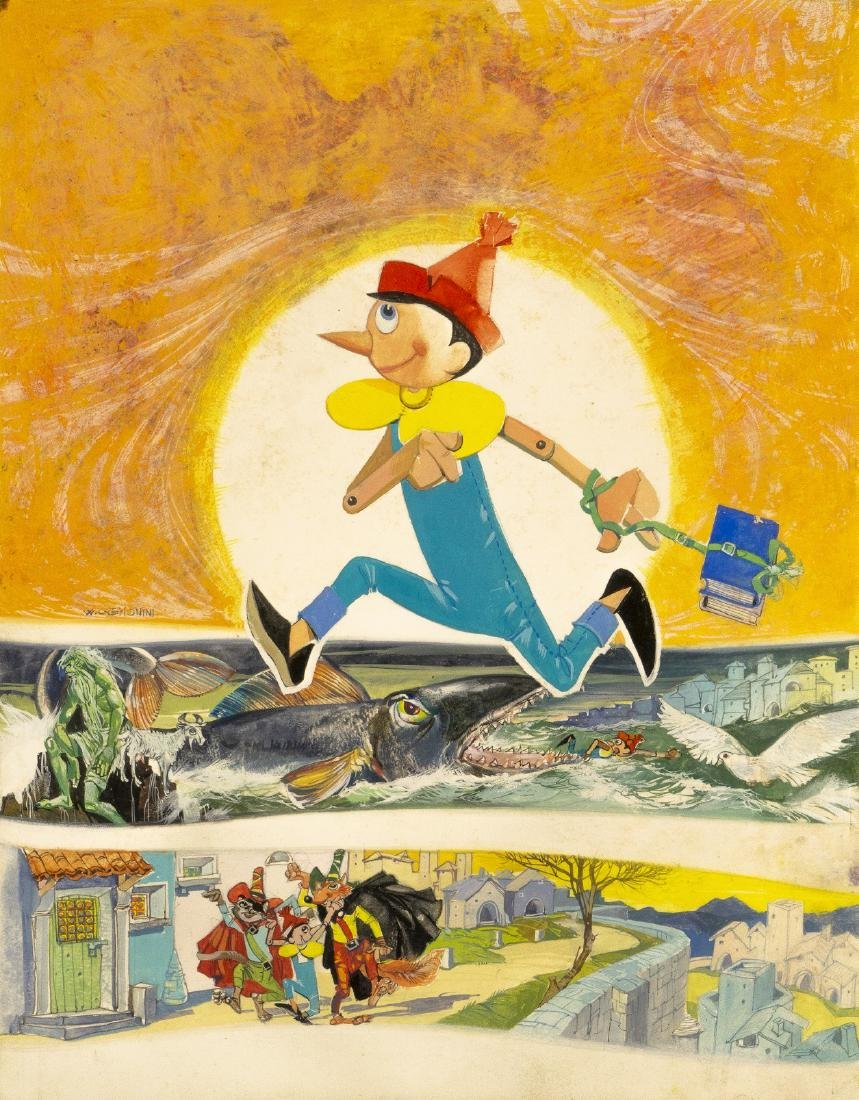"""Cremonini Walter - """"Pinocchio"""", anni '60"""