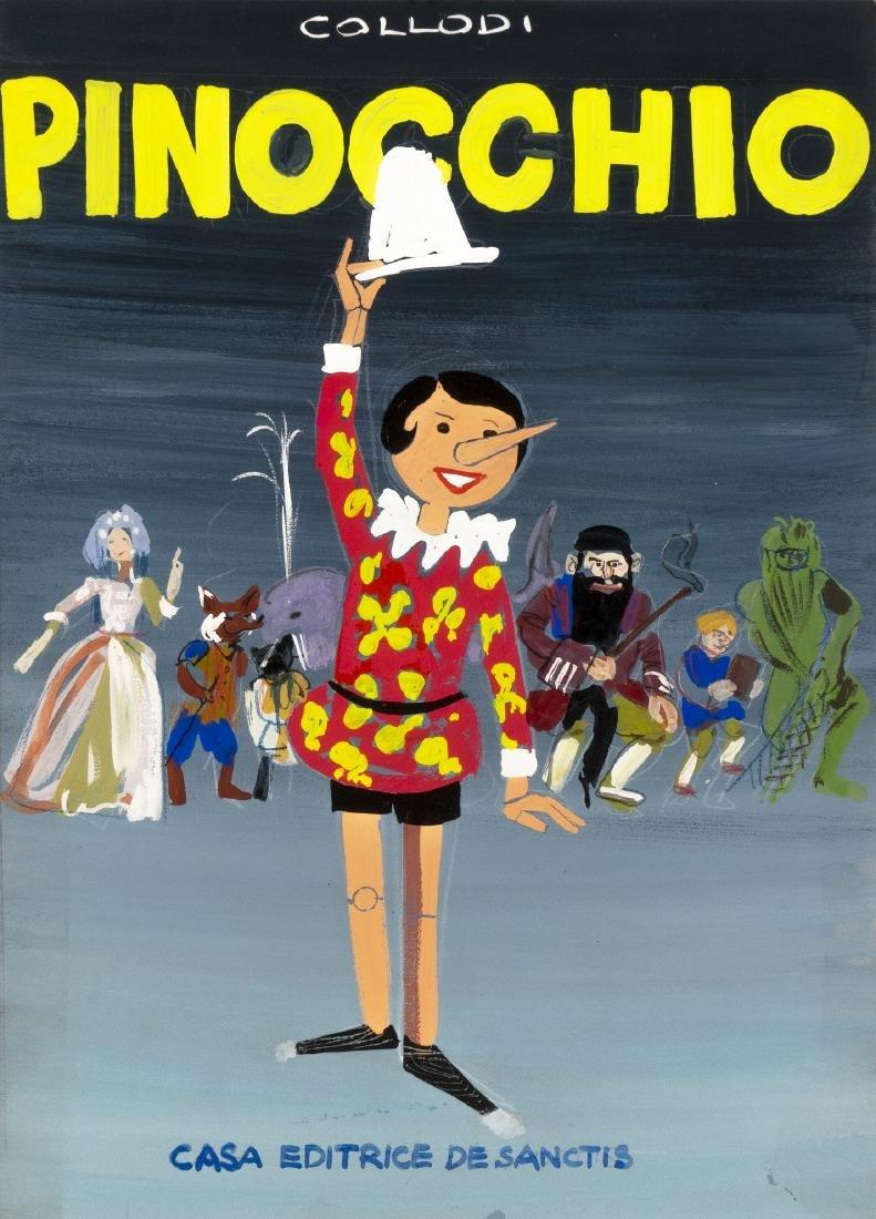 """Bagnoli Enrico - """"Pinocchio"""", anni '60"""