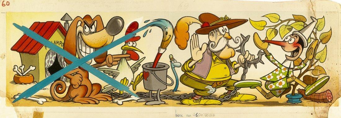 """Jacovitti Benito - """"Pinocchio"""", 1964"""