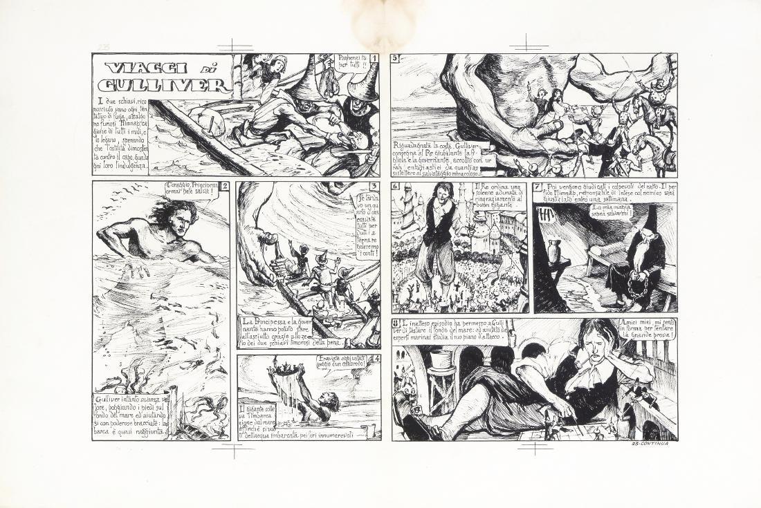 """Porcheddu Giuseppe - """"Viaggi di Gulliver"""", 1941"""