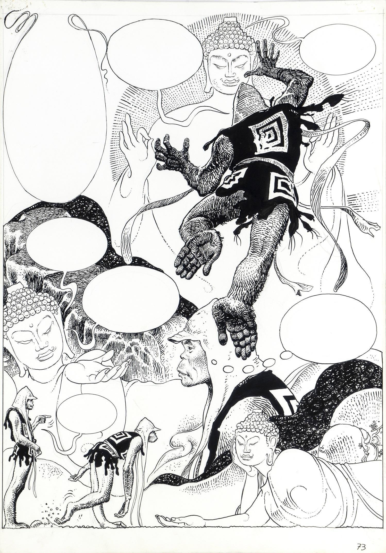 """Manara Milo - """"Lo Scimmiotto """", 1976"""