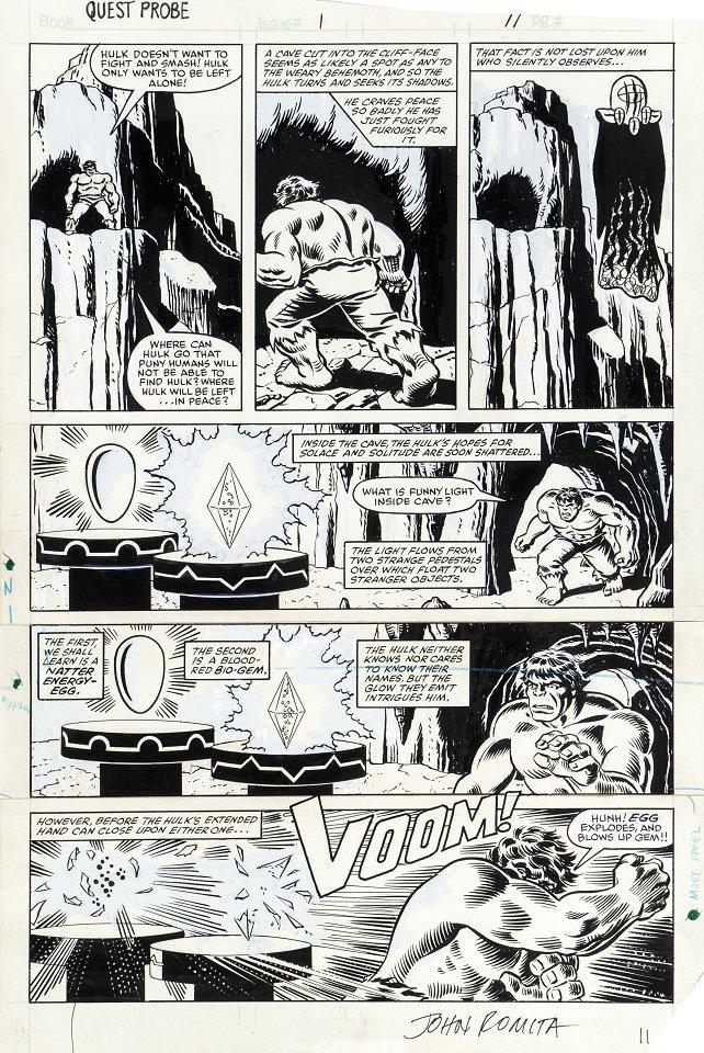 """Romita John - """"Questprobe: The Hulk"""", 1984"""