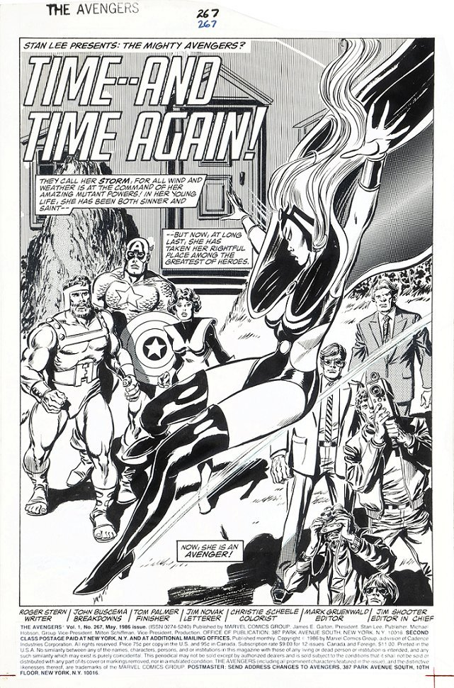 """Buscema John - """"The Avengers - Time And Time"""