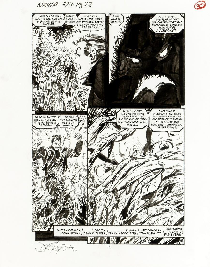 """Byrne John - """"Namor the Sub-Mariner - Green"""