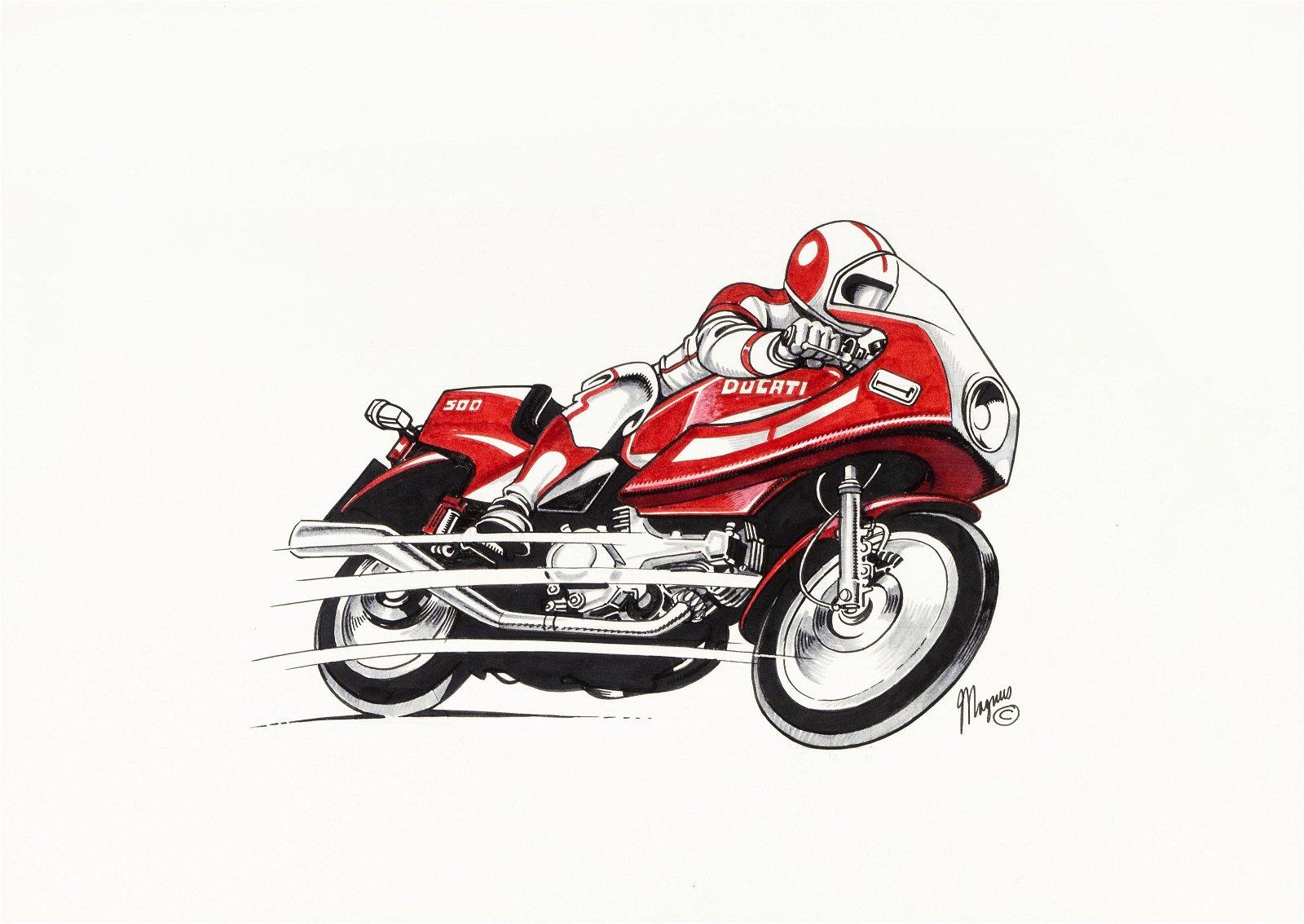"""Magnus (Roberto Raviola) - """"Moto Ducati"""", 1994"""