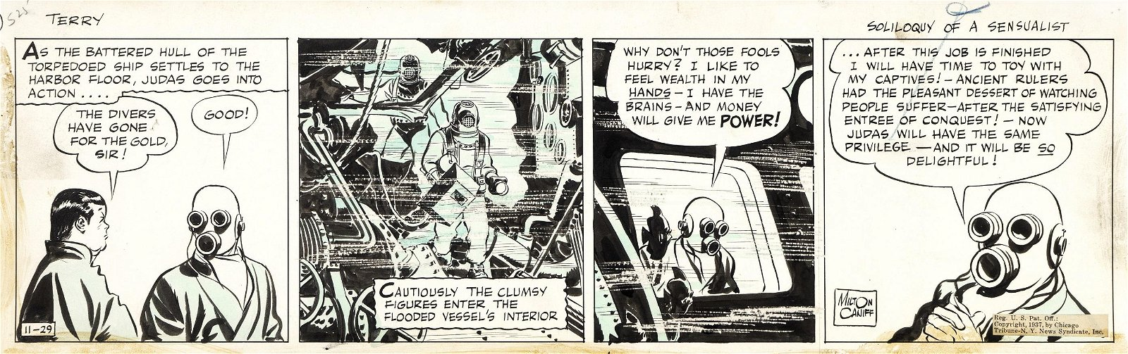 """Caniff Milton - """"Terry and the Pirates - Soliloquy"""