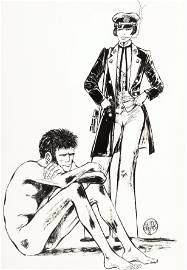 """Crepax Guido - """"Omaggio a Corto Maltese"""", 1981"""