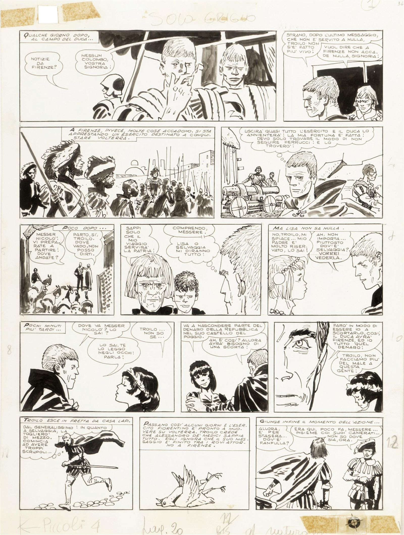 "Pratt Hugo - ""Le avventure di Fanfulla"", 1967"