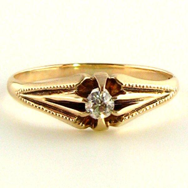 Edwardian Rose Gold Diamond Ring
