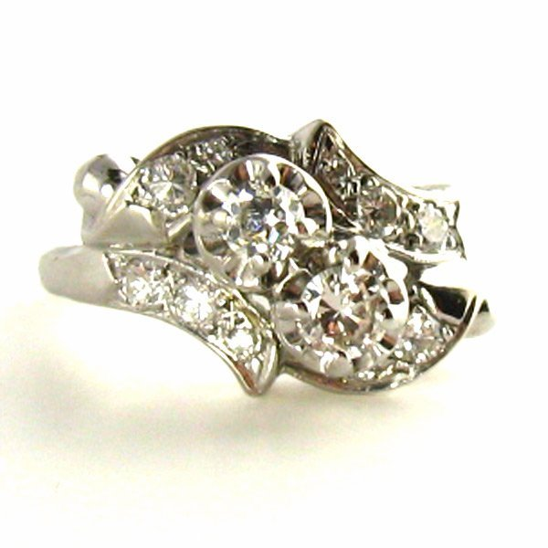 Vintage Cocktail Ring with Diamonds - Appraised $2800