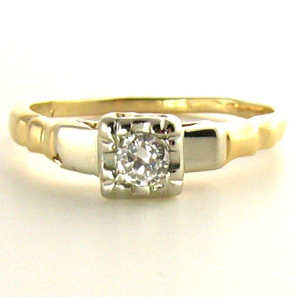 Illusion Diamond Ring with Old European Cut Diamond