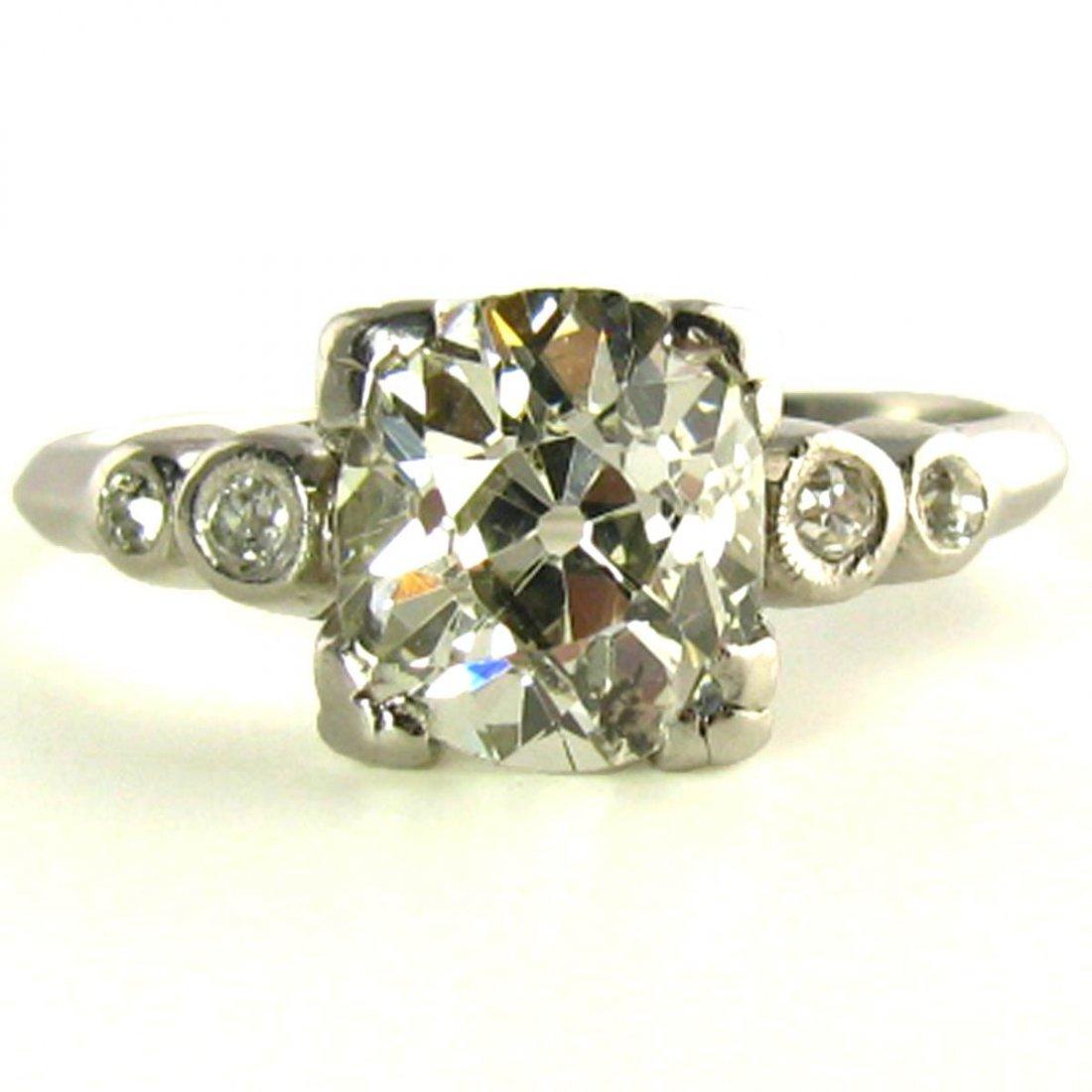 2.3 Carat Antique Diamond Ring Appraised $18500