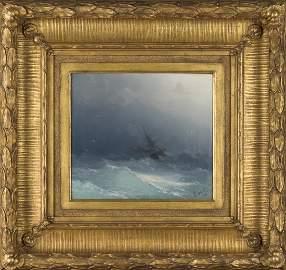 Ivan Aivazovsky | Seascape American Ship 1873 Oil