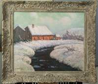Arsene Chabanian  Armenian  Winter Scene  Oil