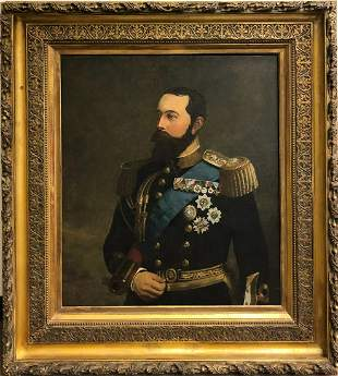 Late 19th Early 20th C. Painting of Officer