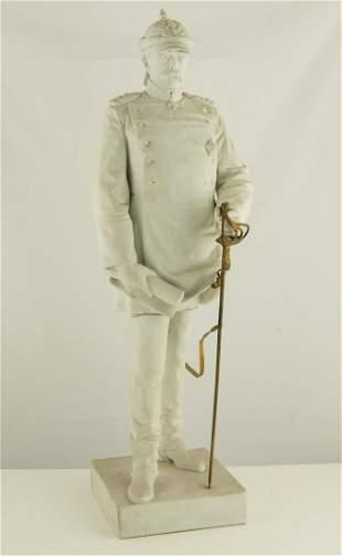 Rare Important Large Statue of Otto Bismark 19th