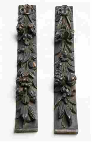 19th C. Architectural Design Wood Carved Samples
