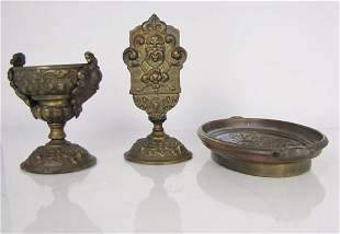 Early 20th Century German Bronze Desk Set
