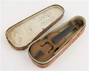 Mini Wooden Violin Salesman(?) Model Dt. 1885