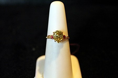 Lady's Natural 1.90ct Alexandrite & Ruby 14kt Solid