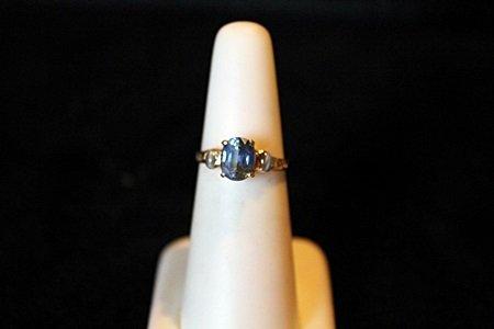 1.87ct Blue Sapphire & Natural Alexandrite 14kt Ring