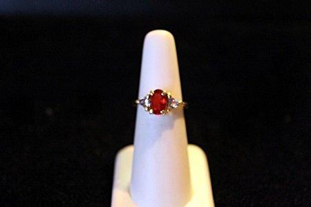 Lady's 14K Yellow Gold Ruby/Tanazanite Ring