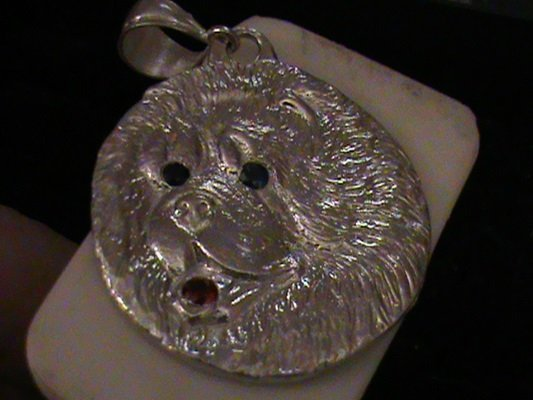 """Beautiful Handcrafted Solid Sterling Silver """"Chow Chow"""""""